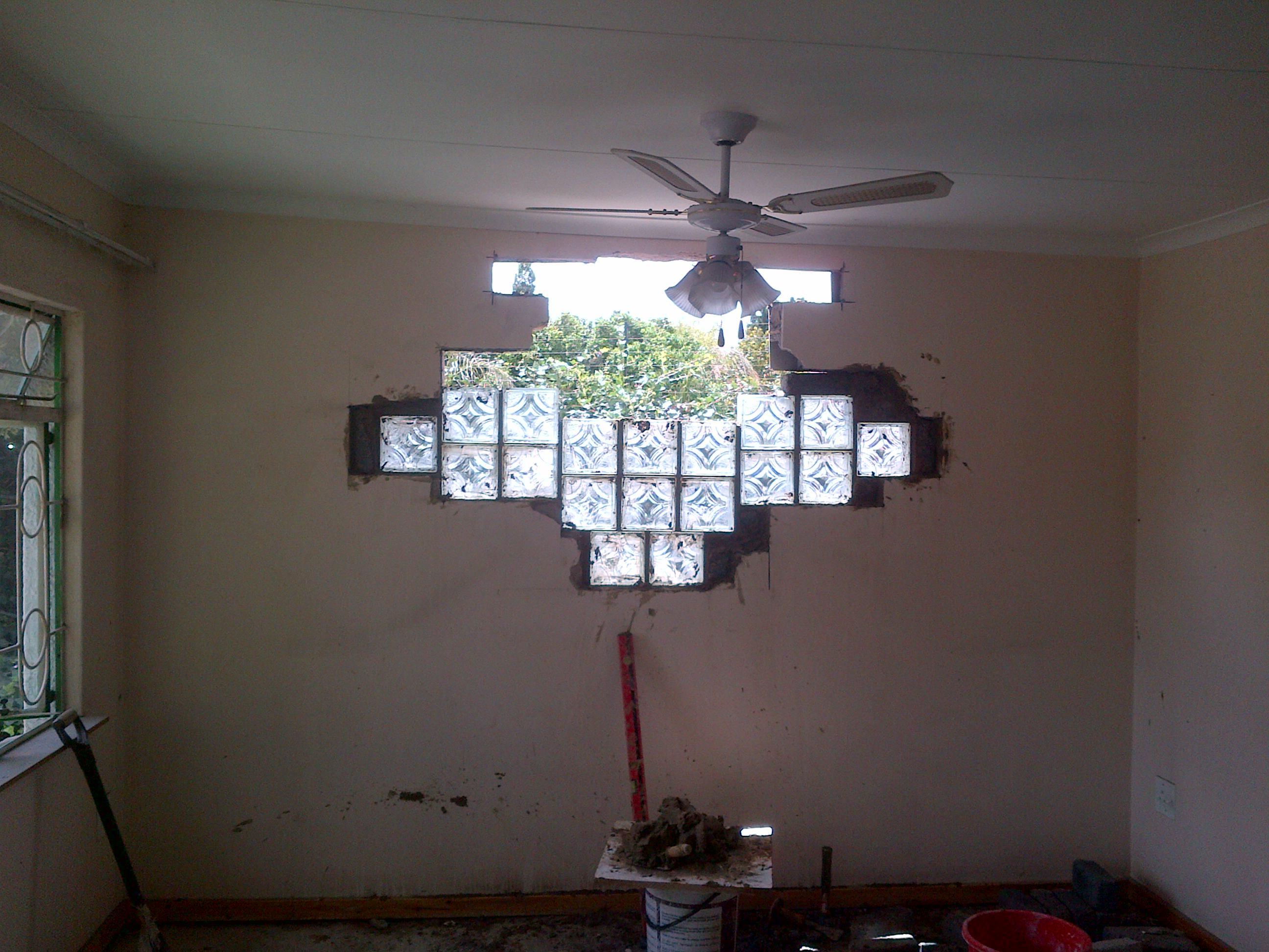 Install Glass Tiles In Progress